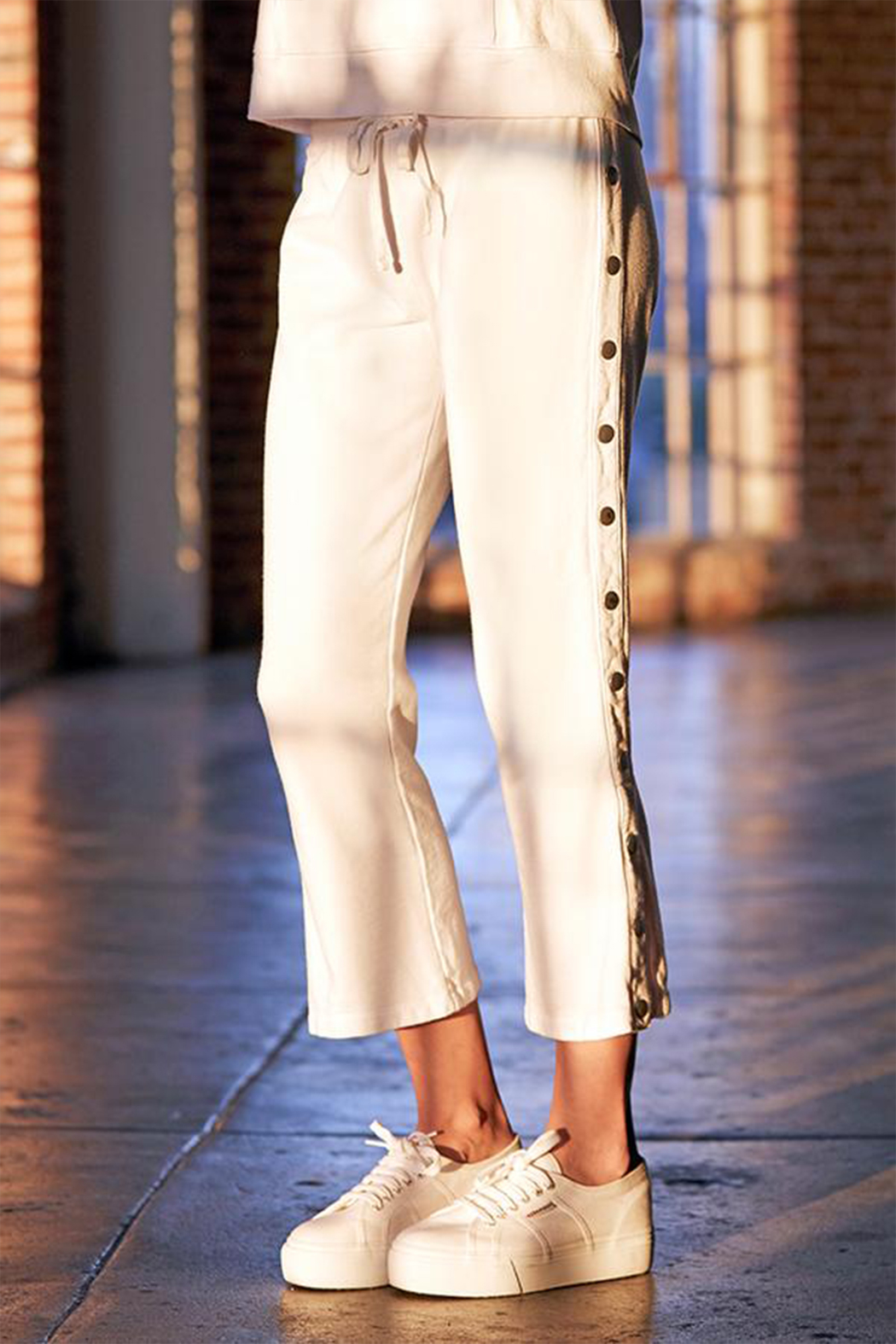 David Lerner New York Crop Flare Snap Lounge Pant - Back Cropped Image