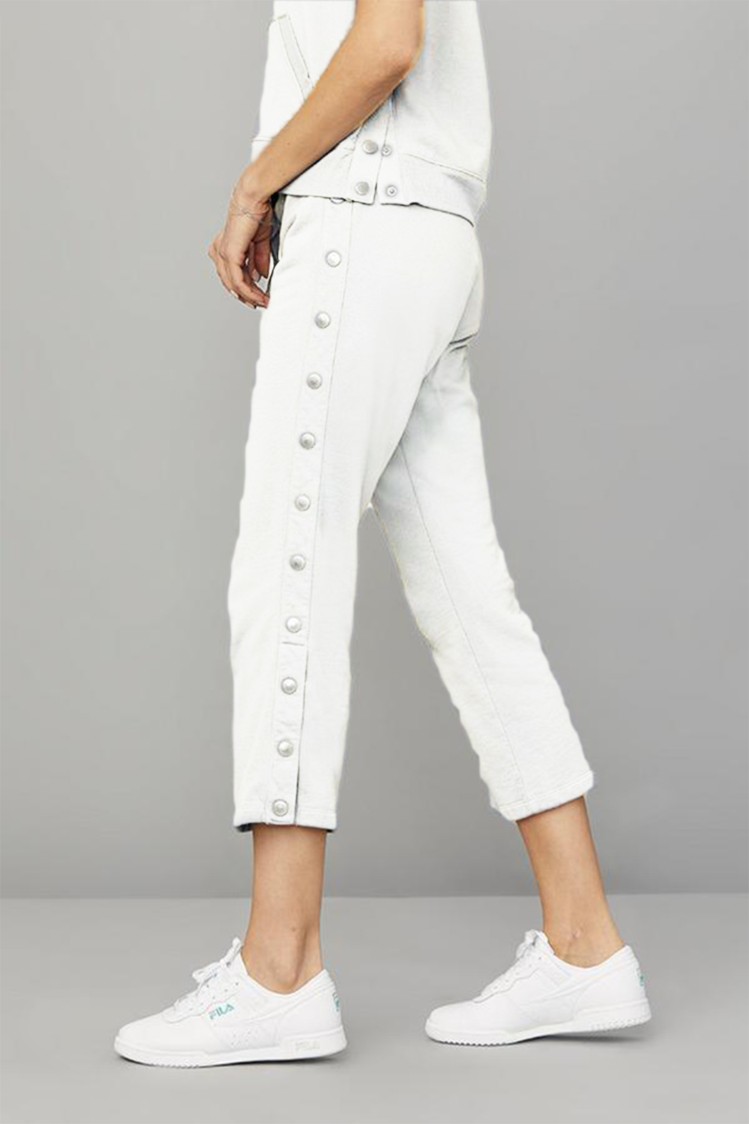 David Lerner New York Crop Flare Snap Lounge Pant - Front Cropped Image