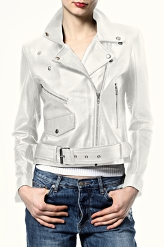Madonna & Co Crop Leather Moto - Alternate List Image