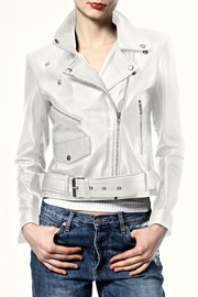 Madonna & Co Crop Leather Moto - Product Mini Image