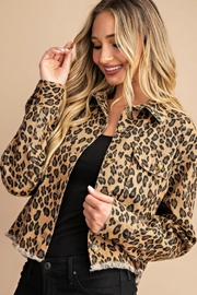 Trend Shop CROP LEOPARD JACKET - Front cropped