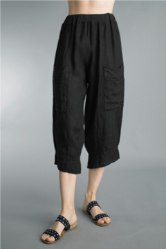Tempo Paris  Crop Linen Pant - Product List Image