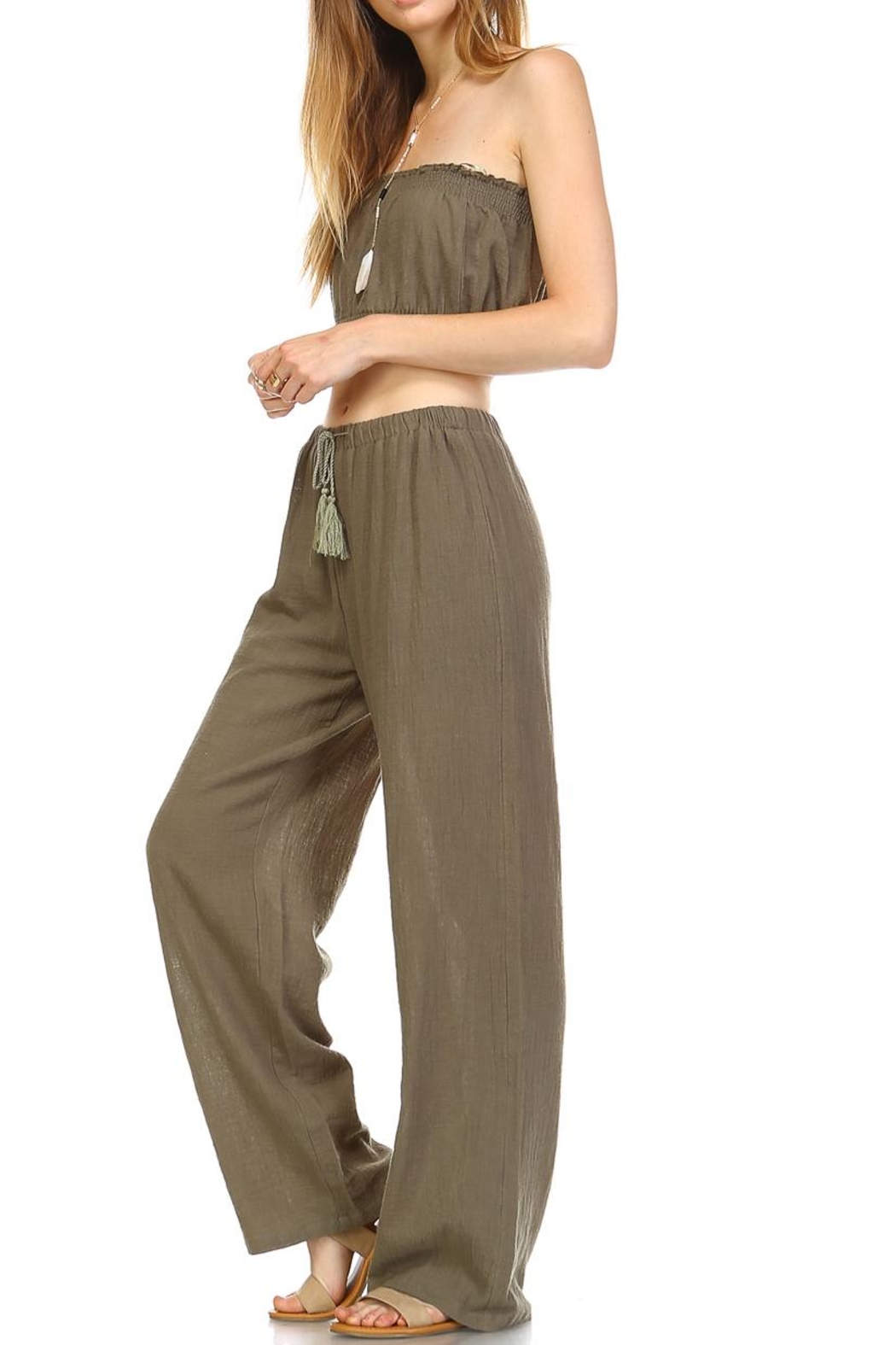 hers and mine Crop Pant Set - Side Cropped Image