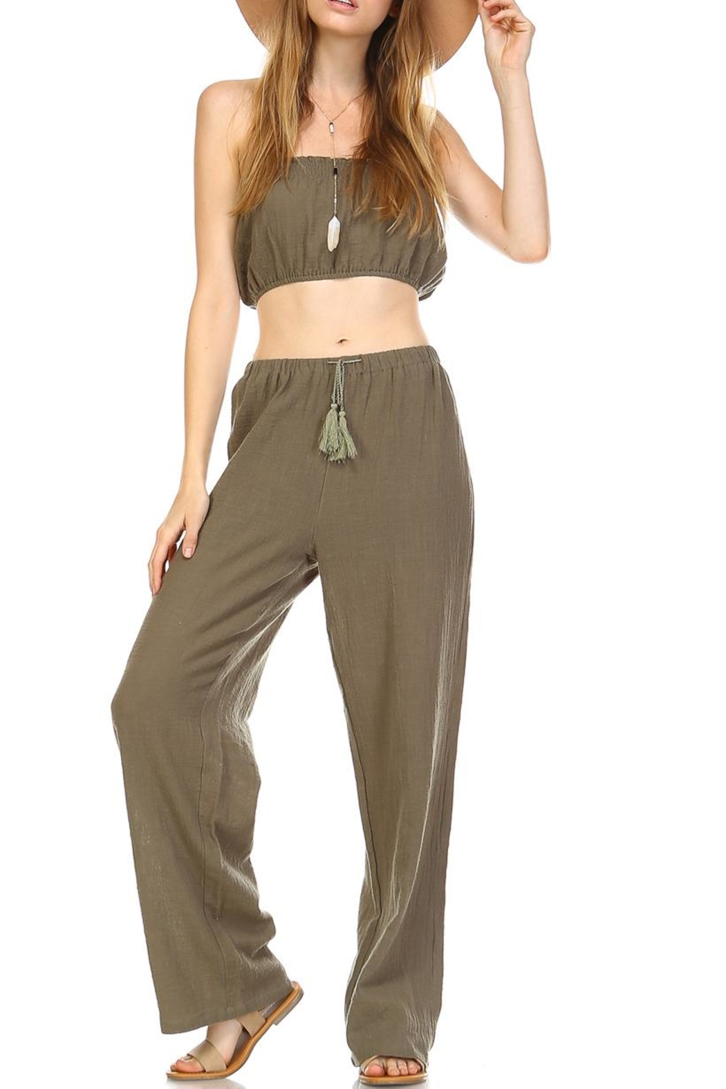 hers and mine Crop Pant Set - Main Image