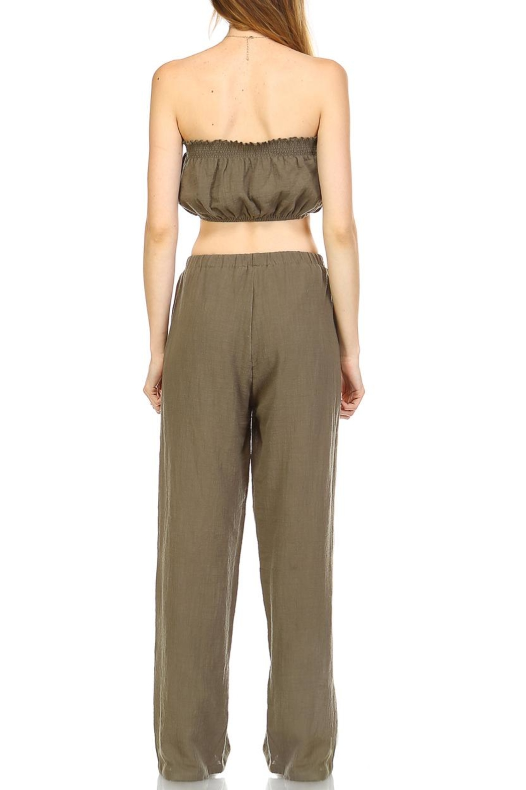 hers and mine Crop Pant Set - Back Cropped Image