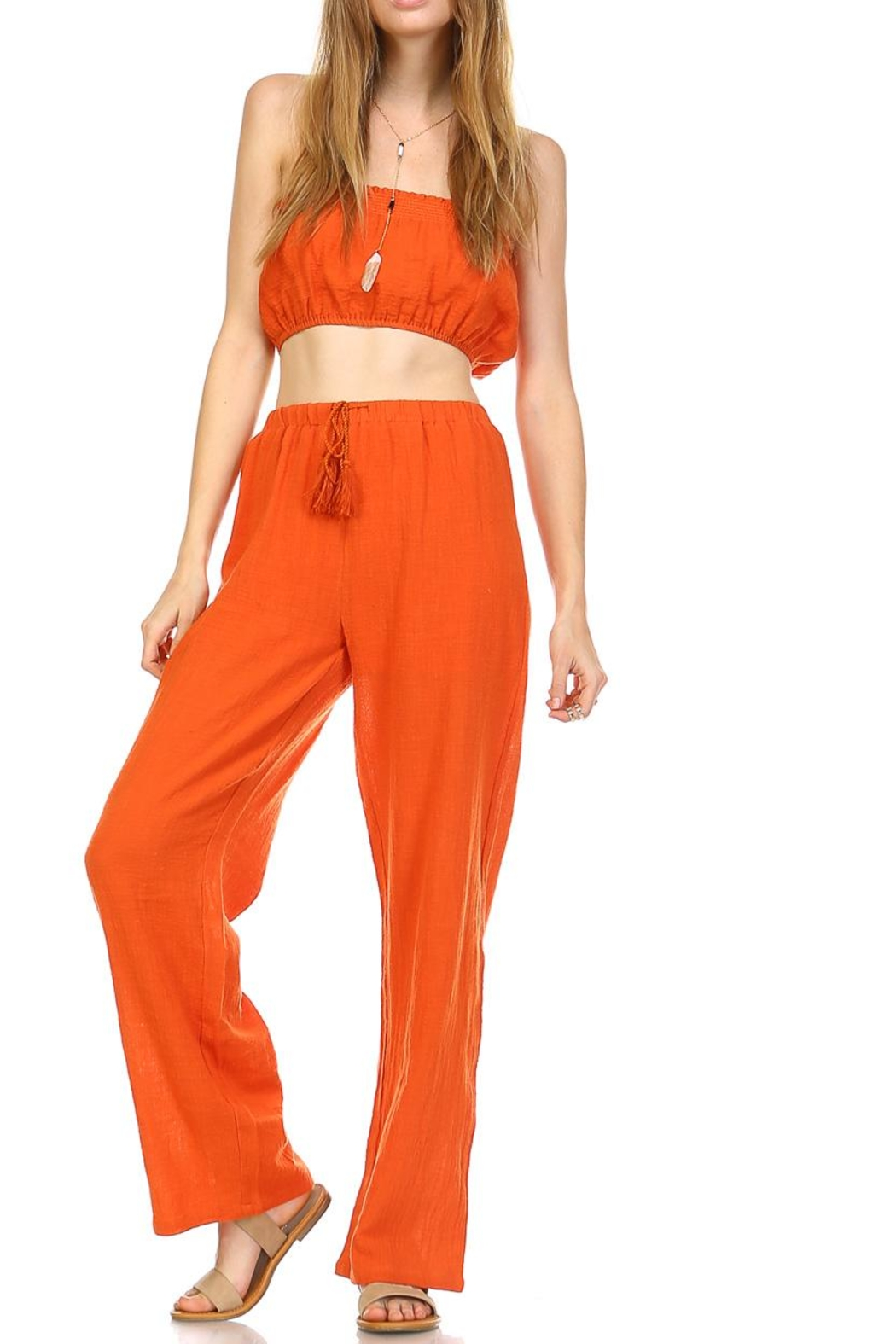 hers and mine Crop Pant Set - Front Cropped Image
