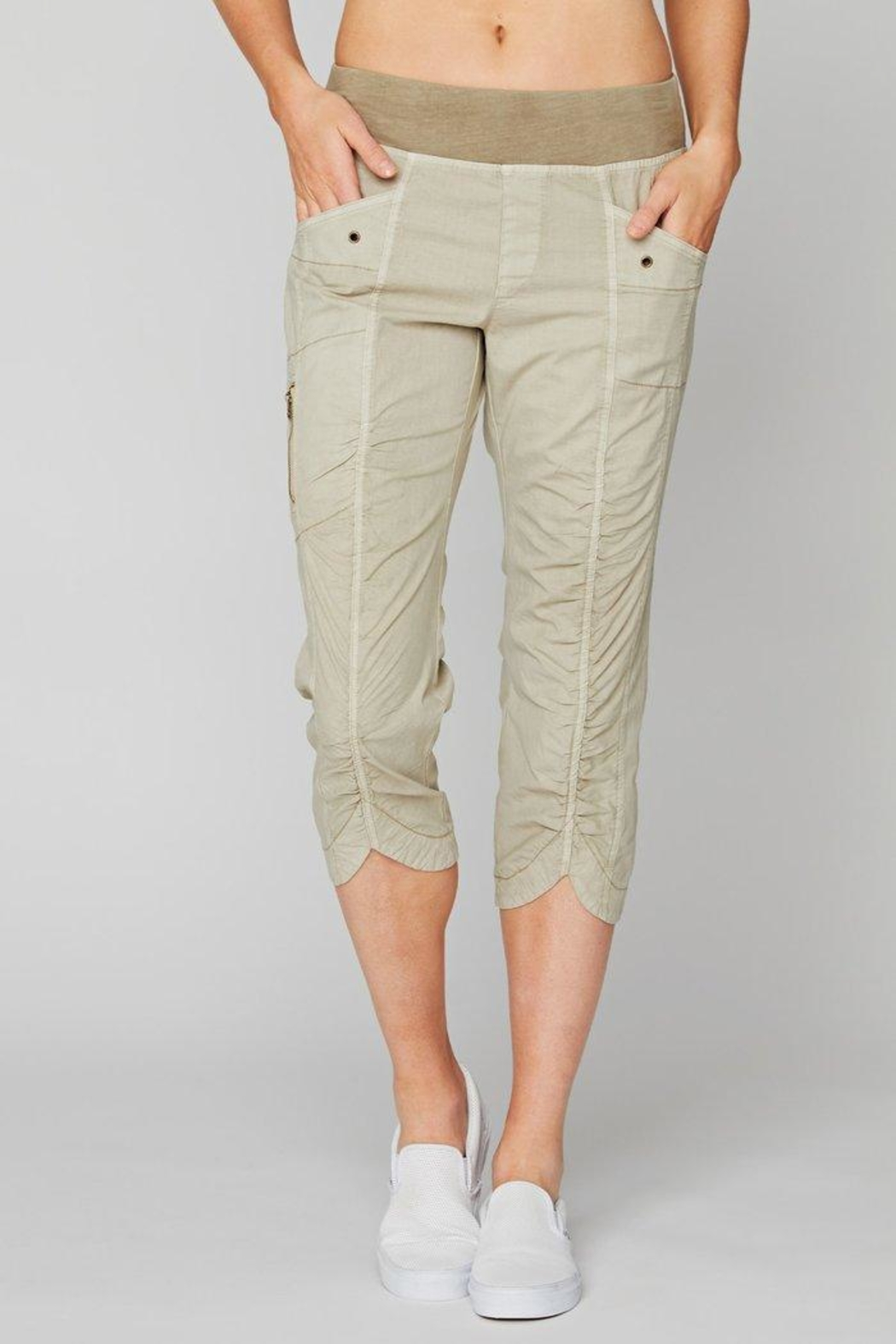 XCVI Wearables Crop Rouched Pant - Main Image