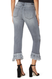 Liverpool  Crop Straight Fray Denim - Front full body