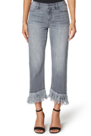 Liverpool  Crop Straight Fray Denim - Front cropped