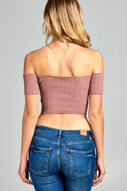 Pretty Little Things Crop Sweater Top - Front full body