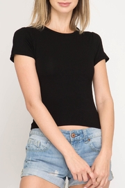 She + Sky Basic Crop Top - Front cropped