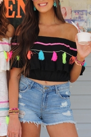 Ocean Drive Crop Tassel Top - Product Mini Image