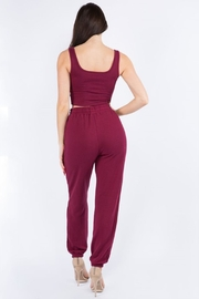 Bear Dance Crop Top and Lounge Pants Set - Other