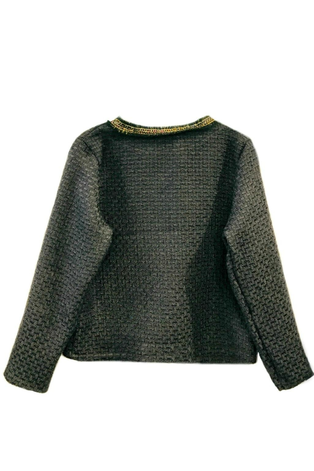 ANTONELLO SERIO Crop Tweed Blazer - Front Full Image