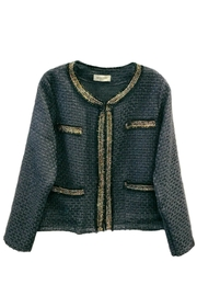 ANTONELLO SERIO Crop Tweed Blazer - Front cropped