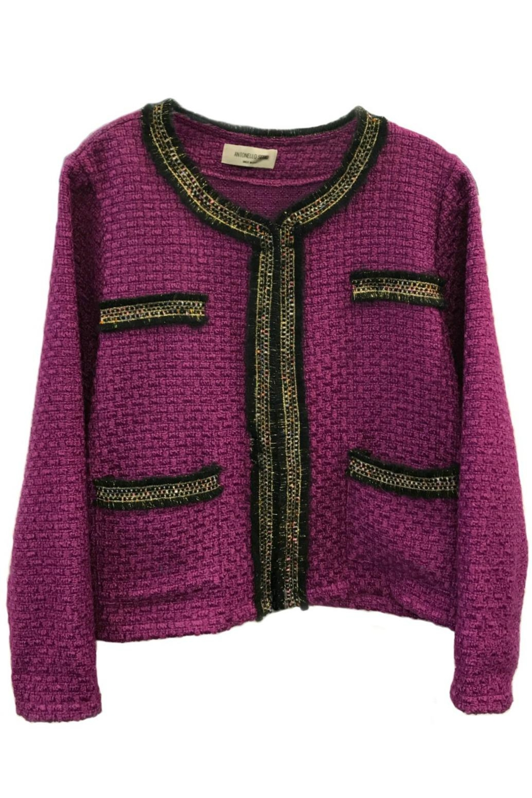 ANTONELLO SERIO Crop Tweed Blazer - Main Image
