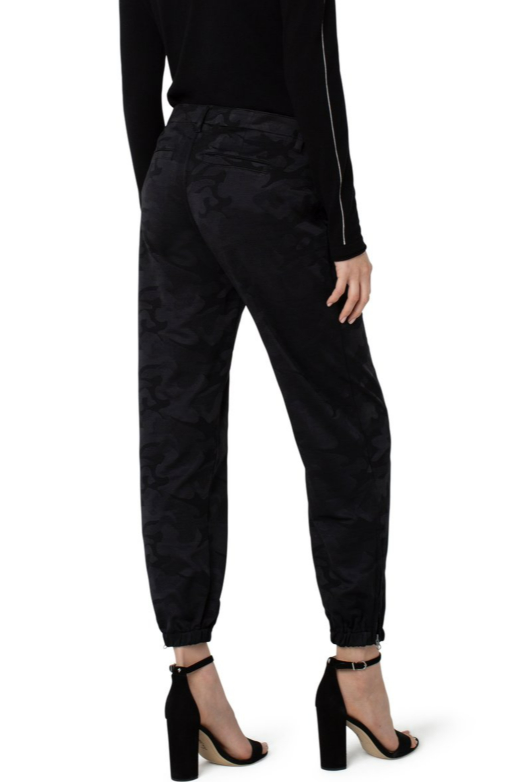 Liverpool  Crop Utility Pant - Side Cropped Image