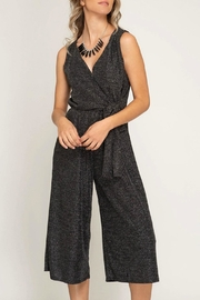 She + Sky Cropped Sparkle Jumpsuit - Product Mini Image