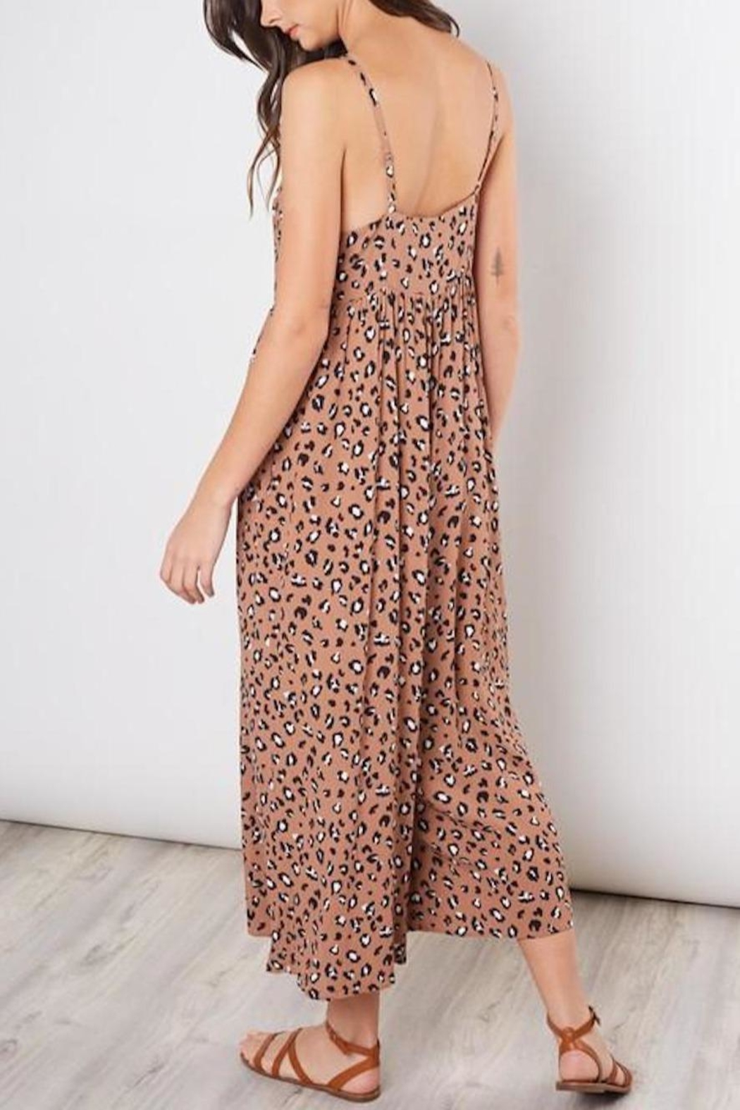 Mustard Seed Cropped Animal-Print Jumpsuit - Back Cropped Image