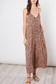 Mustard Seed Cropped Animal-Print Jumpsuit - Product Mini Image