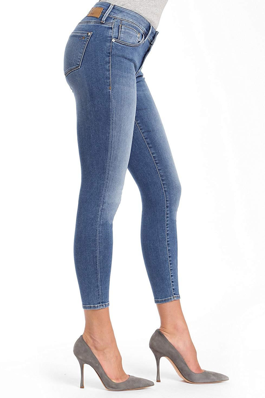 Mavi Jeans Cropped Ankle Skinny - Front Full Image