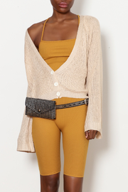 Cozy Casual Cropped Bell Sleeve Cardigan - Product Mini Image
