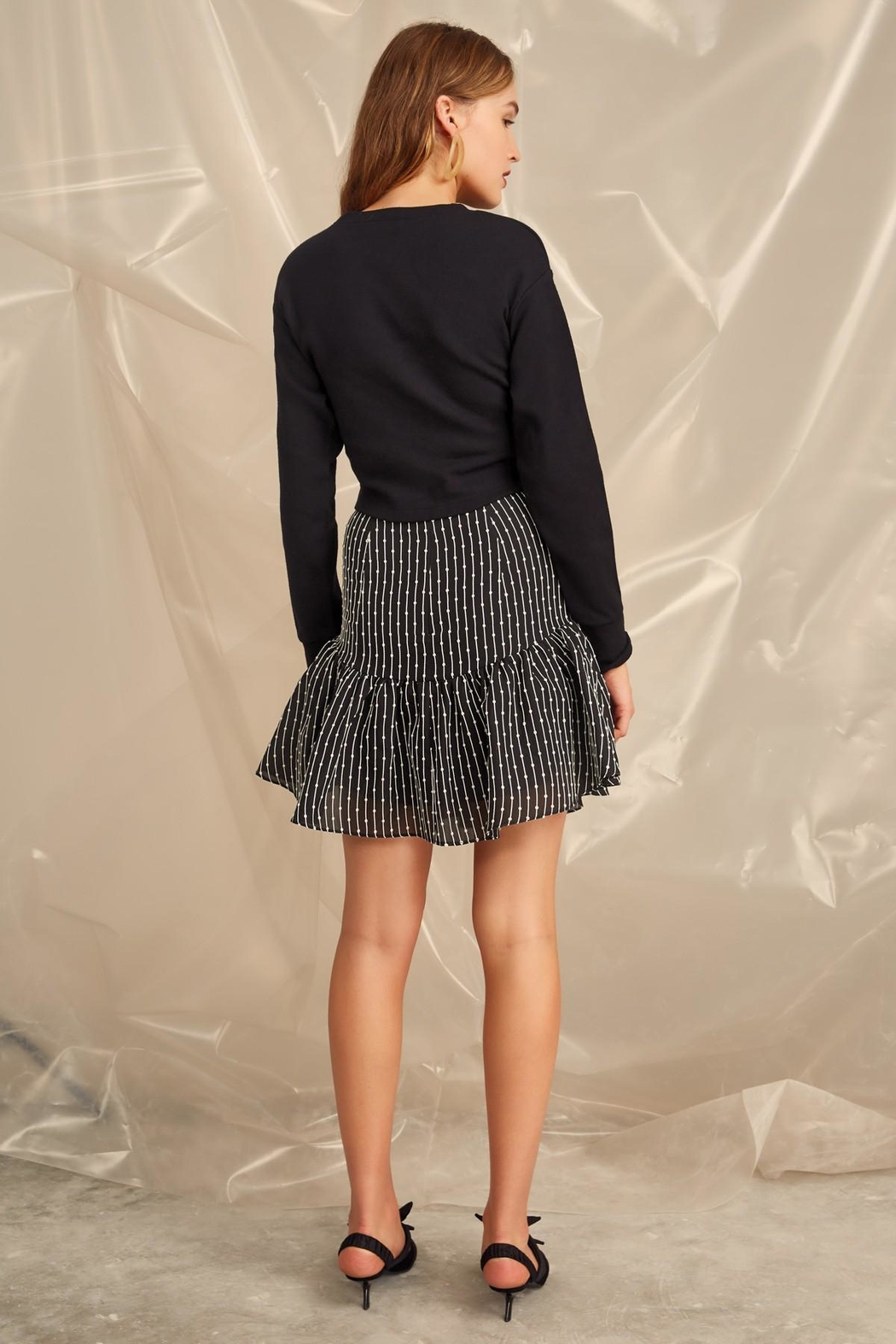 C/MEO COLLECTIVE Cropped Belt Sweater - Side Cropped Image