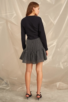 C/MEO COLLECTIVE Cropped Belt Sweater - Alternate List Image