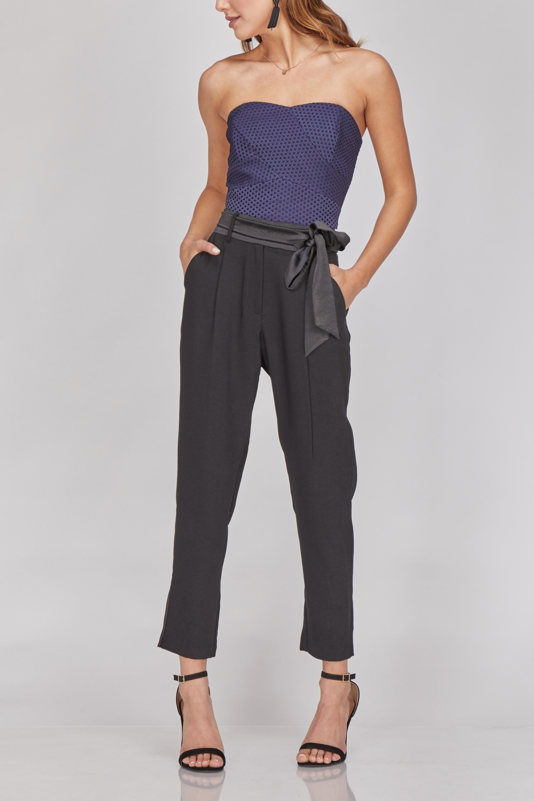 Greylin Cropped Belted Trouser - Main Image