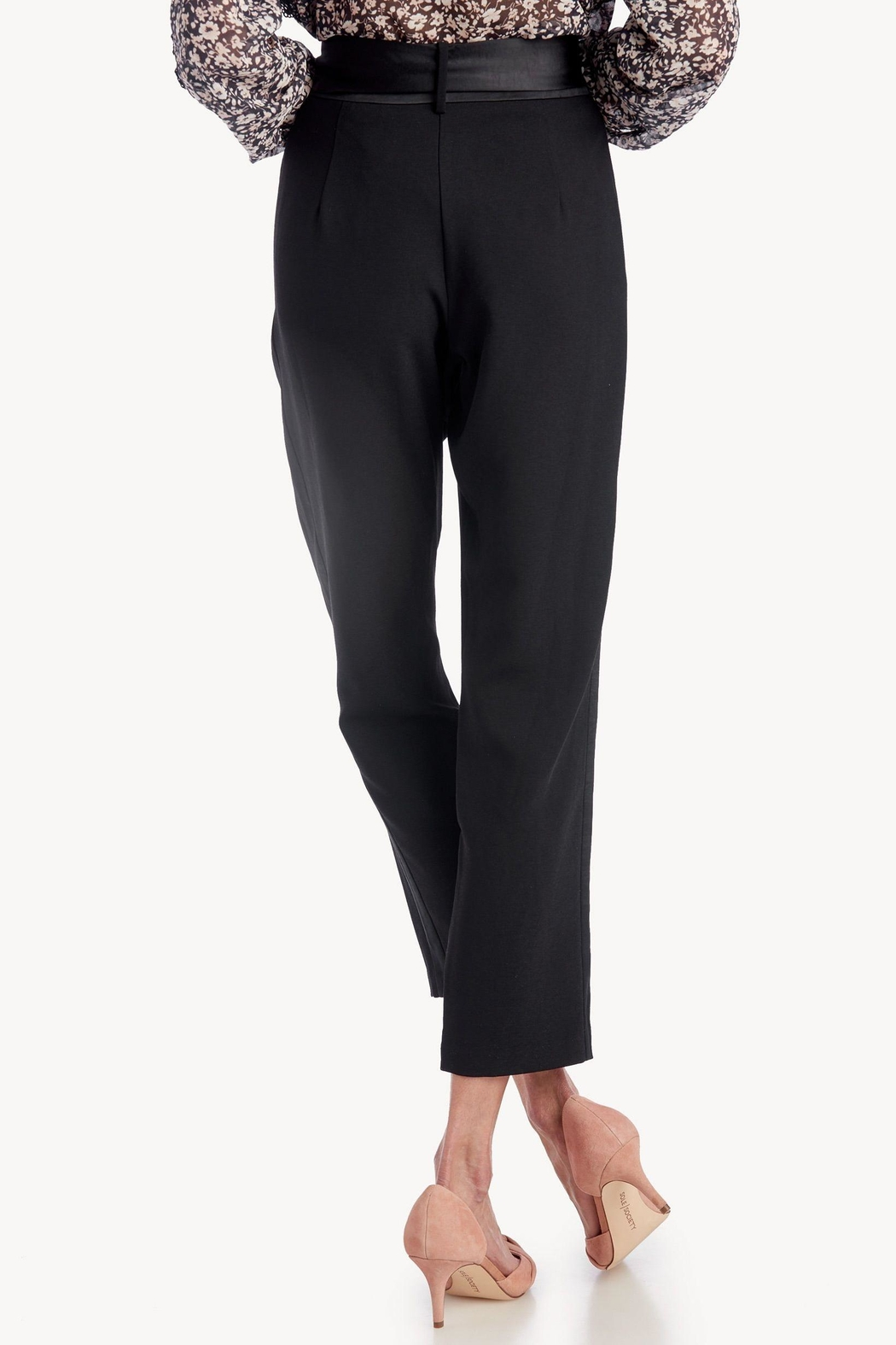 Greylin Cropped Belted Trouser - Side Cropped Image