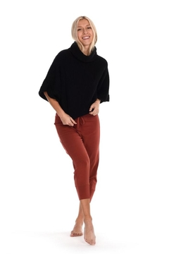 Paper Label Cropped Black Sweater - Product List Image