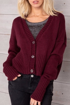 Shoptiques Product: Cropped Button Cardigan