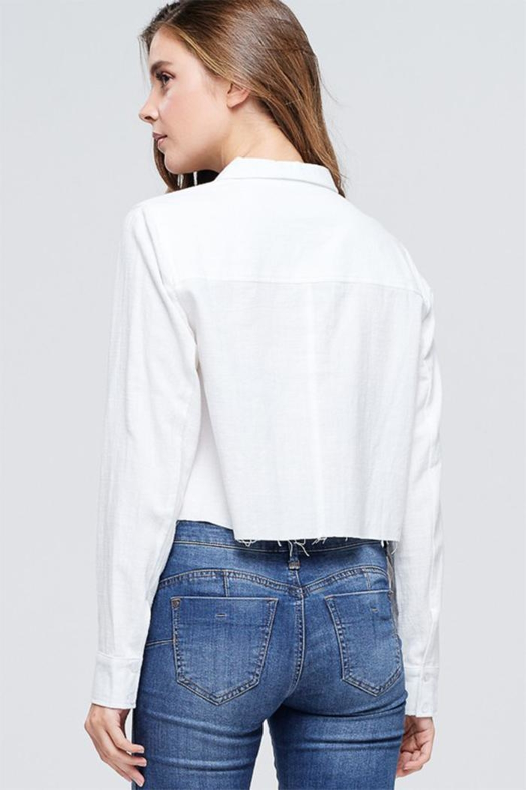 Emory Park Cropped Button Down - Side Cropped Image