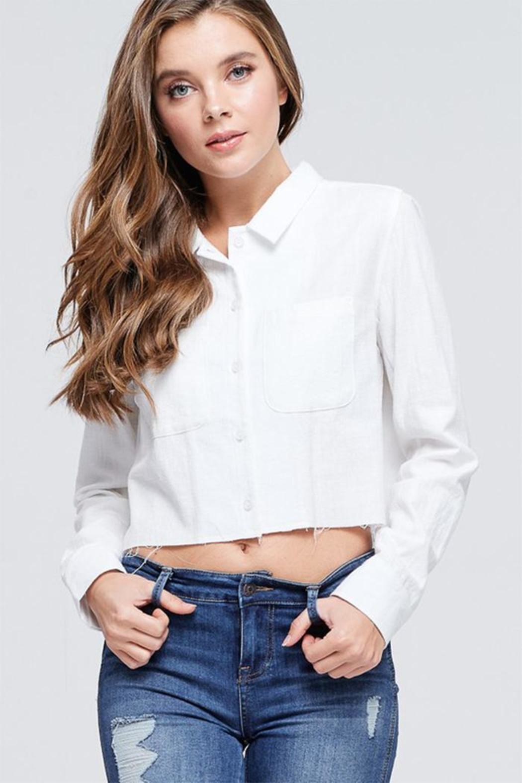 Emory Park Cropped Button Down - Main Image