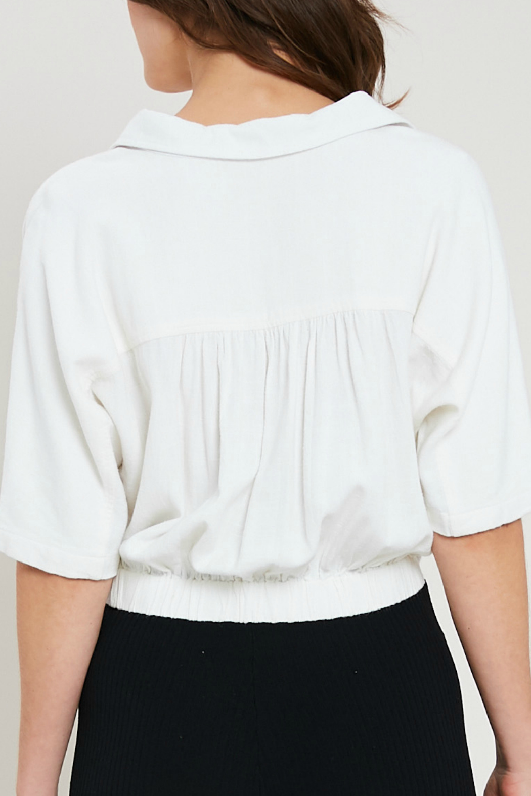 Wishlist Cropped button front shirt - Front Full Image