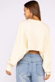 Le Lis Cropped Cable Knit Sweater - Product Mini Image