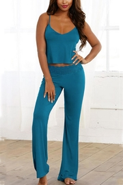 Dreamgirl Cropped-Cami & Pant Sleep-Set - Front cropped