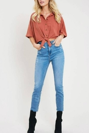 Wishlist Cropped Camp Shirt - Front cropped