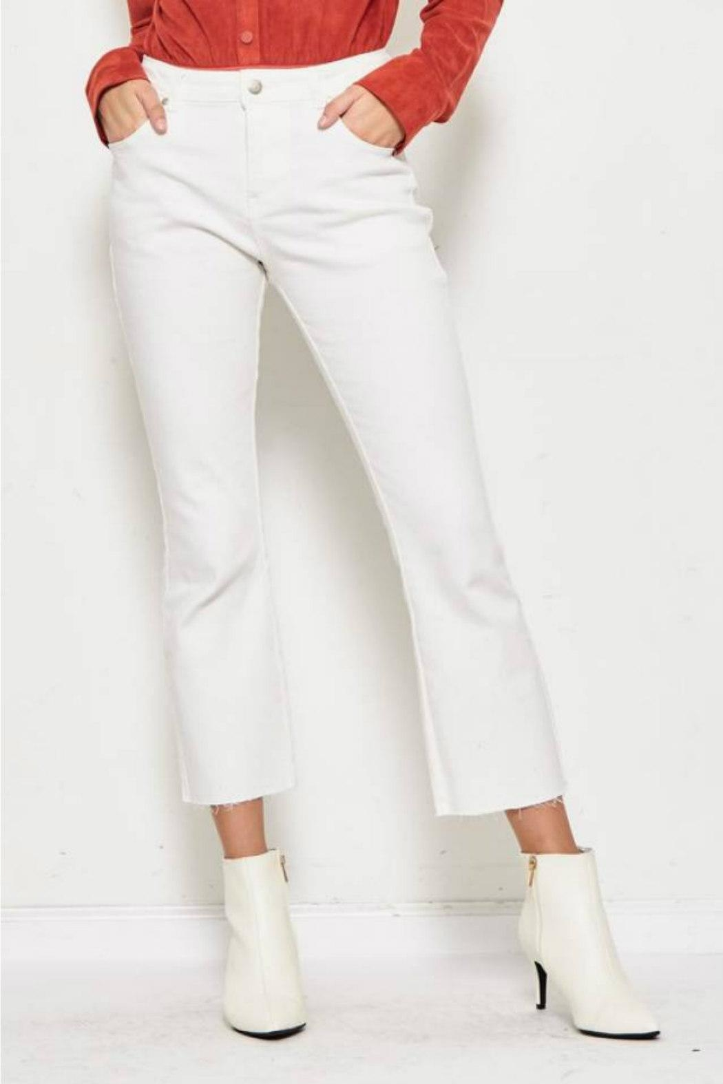 etophe Cropped Canvas Pant - Front Cropped Image