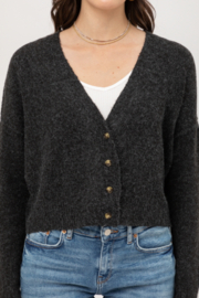 Love Tree Cropped Cardigan - Front cropped