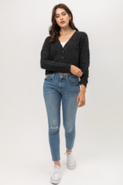 Love Tree Cropped Cardigan - Back cropped