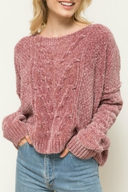 Hem & Thread Cropped Chenille Sweater - Product Mini Image