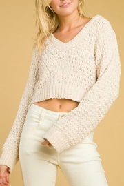 Wild Honey Cropped Chenille Sweater - Product Mini Image