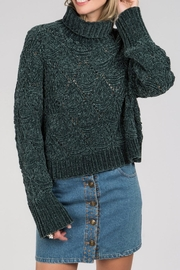 POL Cropped Chenille Turtleneck - Product Mini Image