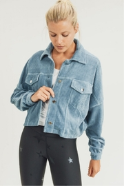 Mono B Cropped Corduroy Jacket - Front cropped