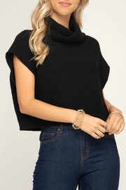 She + Sky Cropped Cowl Sweater - Product Mini Image
