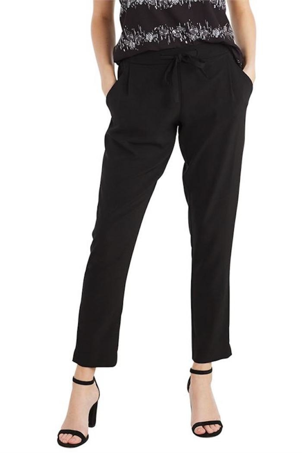 Mud Pie Cropped Crepe Pants - Main Image