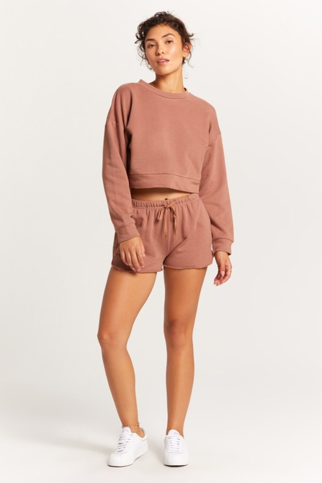 Olivaceous  Cropped Crew - Front Full Image