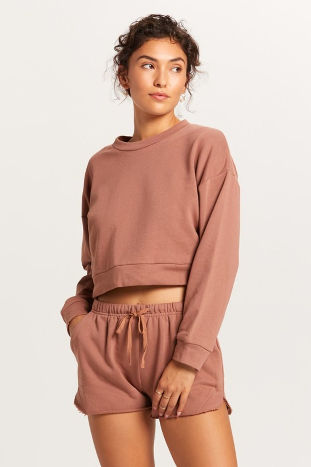 Olivaceous  Cropped Crew - Main Image
