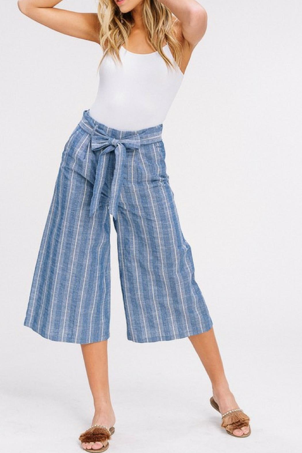 Listicle Cropped Culottes - Main Image